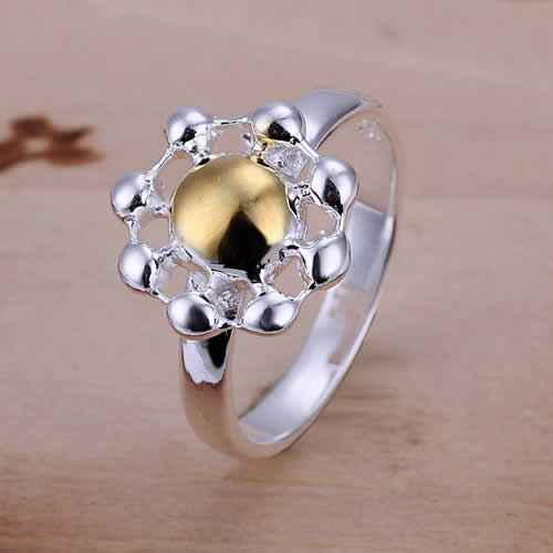 Lose Money Promotions! Wholesale 925 silver ring, 925 silver fashion jewelry, Chrysanthemum Ring KDR112(China (Mainland))