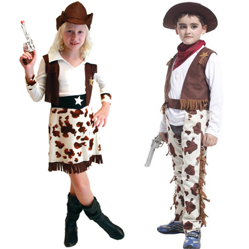 M~XL 2016 Fashion Casual Western Cowboy Children Cosplay Halloween Kids Costumes Hollywood Party Boy Travel Outdoor Hat Uniform(China (Mainland))