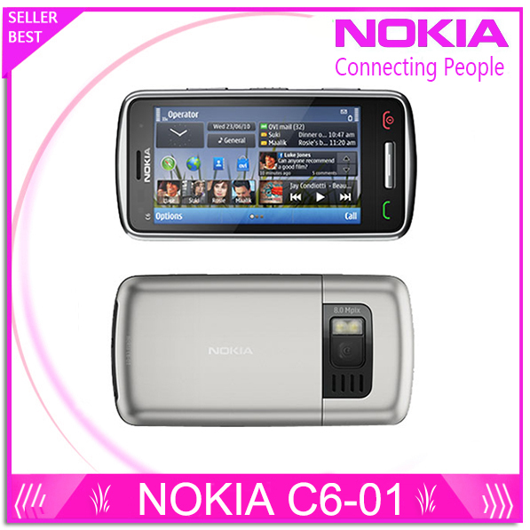 "Free shipping Original Nokia C6-01 C6 01 unlocked Smart mobilephone 3.2"" capacitive touchscreen 8MP GPS WIFI phone(China (Mainland))"