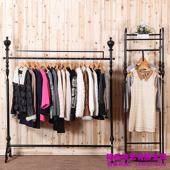 Young wrought iron clothing rack clothing store display racks for hanging clothes rack clothing racks landing pendant<br><br>Aliexpress