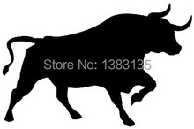 Bull Silhouette Car Window Sticker Vinyl Decal For Motorbike Scooter Truck Bumper Door Ship Funny JDM Auto SUV Hot Graphical