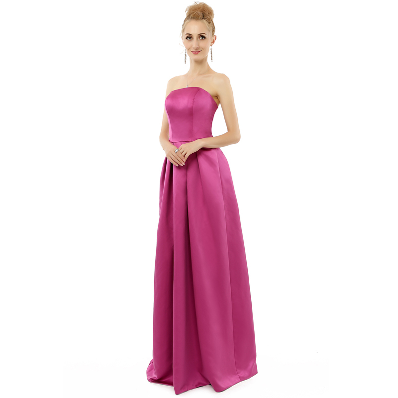 Lilac purple satin dress long bridesmaid dresses 2015 for Long dresses for wedding party