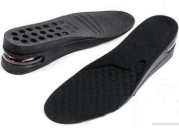 1 Pairs 2-layers Air Cushion PU Adjustable height increase insole/Shoe Pad, For Men and Women #436B