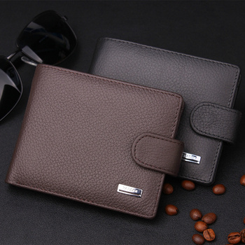 2015 New 100% Genuine Leather Wallet, High quality fashion hasp purse men, Wholesale Leather men Wallets, Free Shipping