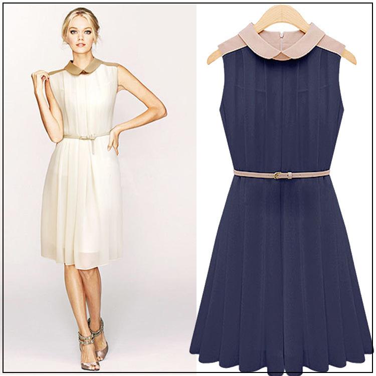Free shipping The new 2014 spring summer show thin beach skirt Bohemian chiffon sleeveless dressesОдежда и ак�е��уары<br><br><br>Aliexpress