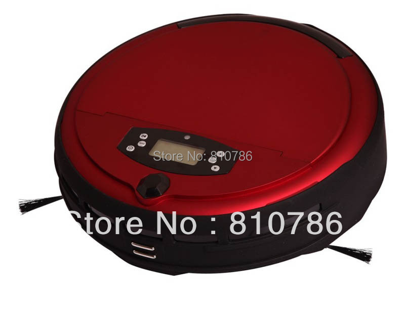 Free Shipping Voice Function Auto Vacuum Cleaner With Time Setting,LCD ,UV Light,Self Recharge,Two Side Brush,0.7L Dustbin,(China (Mainland))
