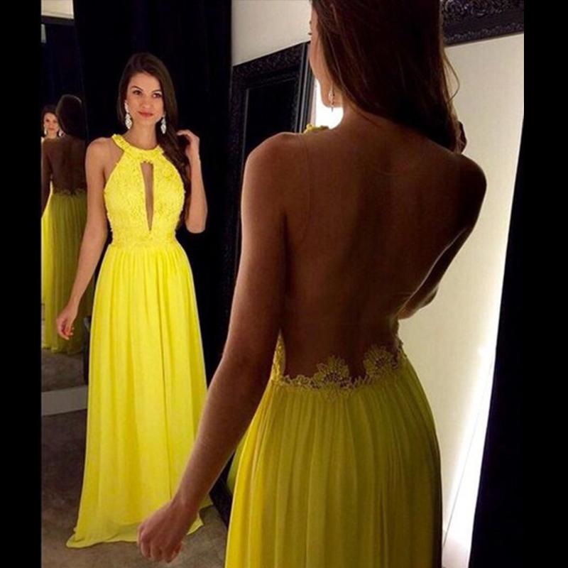 Unique Yellow Prom Dresses 89