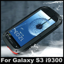 S3 Waterproof Dirtproof Shockproof Aluminum + Gorilla Glass case for Samsung Galaxy S3 i9300 cover (China (Mainland))