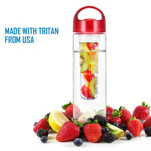 2016 Hot Sell 24Oz Fruit Infuser Sport Water Bottle with TRITAN Material BPA Free Perfect Durable Tumbler for Travel Hiking Bike