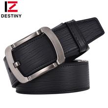 Buy DESTINY Famous Brand Designer Belts Men High Cow Leather Luxury Man belt Wide Strap Male Pin Buckle Cowboy Jeans Stripe for $11.17 in AliExpress store