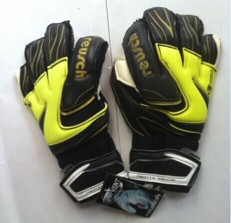 goalkeeper gloves Reusch brand top goalkeeper gloves football gloves-latex plam High quality Thickened Senior M1 Latex 3 Colors(China (Mainland))