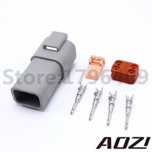 Buy 10 Sets TE DEUTSCH Style Four Pins Enhanced Seal Cars Connector Plug Waterproof Male Deutsch AT-DT Type Connectors DT04-4P for $16.37 in AliExpress store