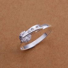 Wholesale 925 jewelry silver plated ring, 925 jewelry silver plated fashion jewelry, Austria Crystal Fashion Ring SMTR182