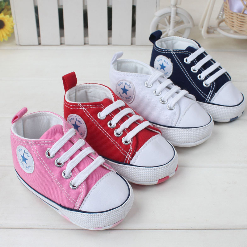Brand New Infant Toddler Newborn Baby Shoes Unisex Kids Classic Sports Sneakers Bebe Soft Bottom Anti-slip T-tied Shoes<br><br>Aliexpress