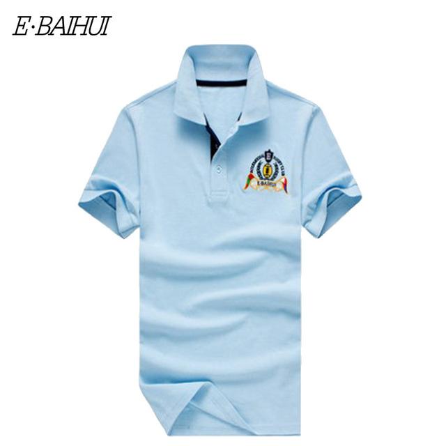 E-BAIHU Брендовые футболки из хлопка на лето с короткими руковами с О-воротом