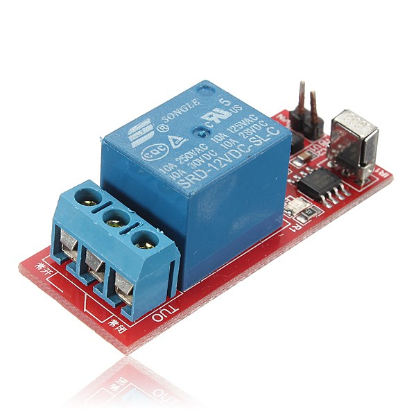 Hot Sale High Quality New For DC 12V IR Infrared 1CH Switch Relay Control Receiver Board + Remote Controller(China (Mainland))
