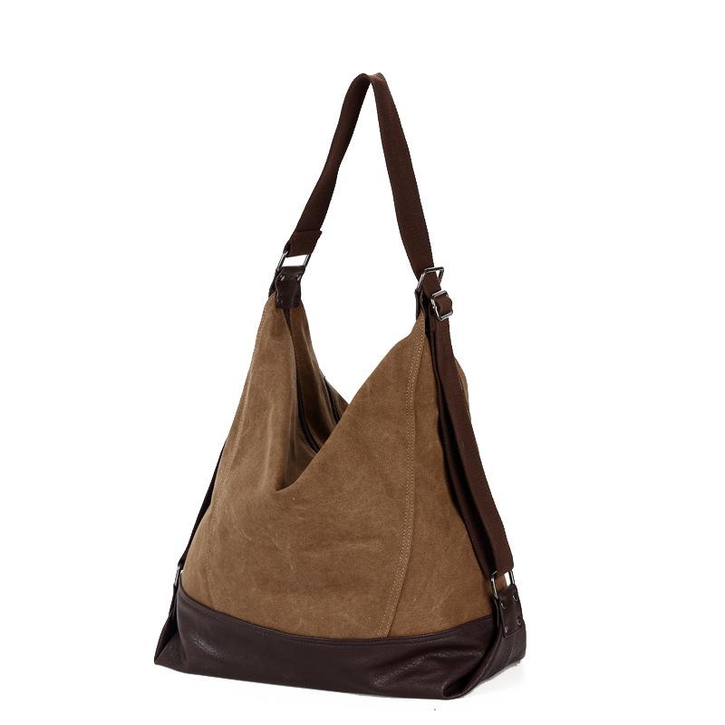 Retro Fashion Portable Shoulder Diagonal BAG Canvas Bag Casual Male Korean Women With Large Capacity(China (Mainland))