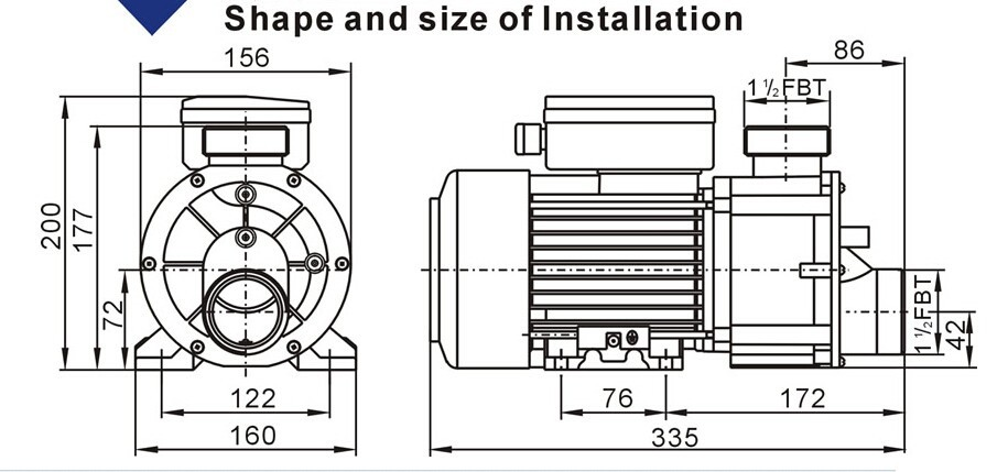 lx dh1 0 bathtub pump 1 hp   750w  220v
