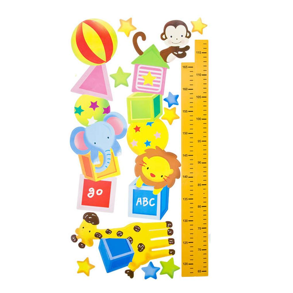 Kids' Room Decor Height/Eye chart wall Stickers Child Height Ruler Wall Stickers Removable PVC Cartoon Grow Up Measure(China (Mainland))