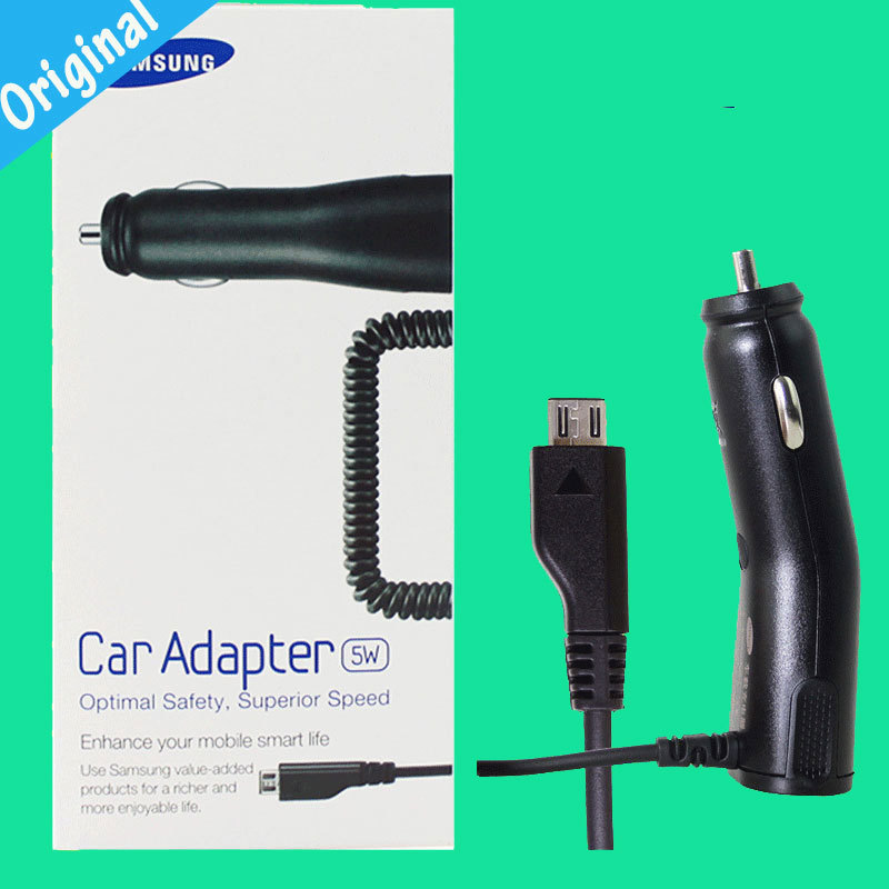 Original ACADU10CBE Car Charger For Samsung GALAXY S2 S3 S4 NOTE2 I9100 I9300 N7100 I9500 S5830 Car Charger