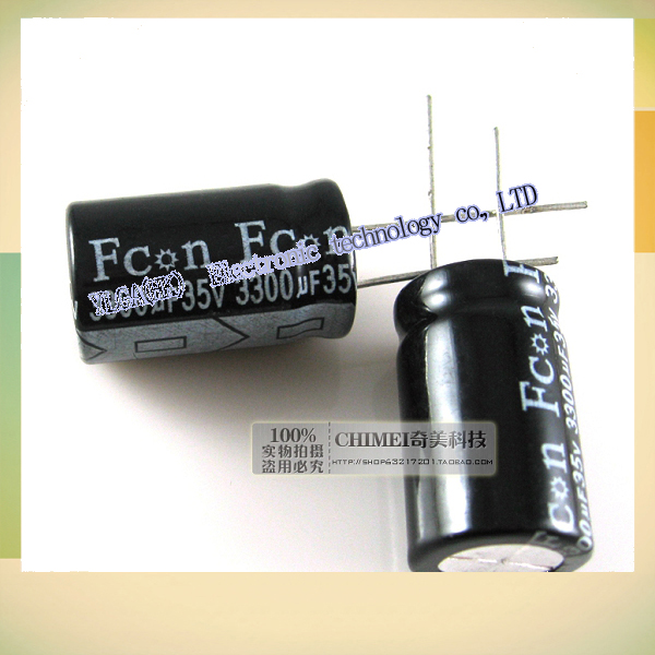 New Original Electrolytic capacitor 35V 3300UF capacitor electronic components 3C digital accessoriesFree shipping(China (Mainland))