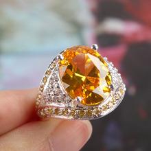 popular citrine oval ring