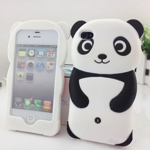 Most Popular Cute 3D Panda Silicone Back Soft Phone Case Protective Cover Skin For iPhone 6 4.7 1V88 71CB 7B2M(China (Mainland))