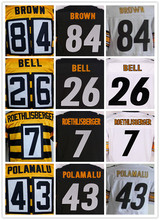 Men's 7 Ben 12 Terry 43 Troy 50 Ryan 84 Antonio 26 Le'Veon elite jerseys(China (Mainland))