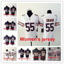 A+++ Women ladies all stitched Chicago Bears 13 Kevin White 17 Alshon Jeffery 89 Mike Ditka 34 Walter Payton 22 Matt Forte(China (Mainland))