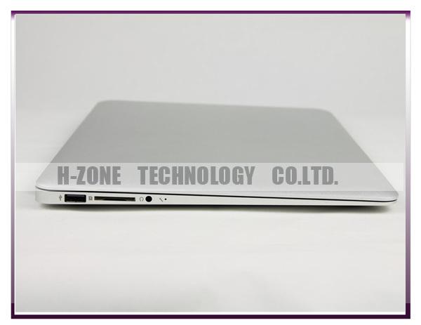 """Freeshipping to Russia 13.3"""" Aluminium Ultra Thin Notebook Intel Celeron 1037U Dual-core 1.8Ghz CPU 4G RAM 64G SSD HZ-M2C(Hong Kong)"""
