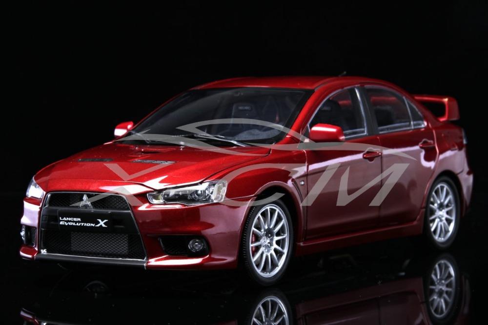 Diecast Car Model Mitsubishi Lancer EVO-X (Red) Left 1:18 + SMALL GIFT!!!!!!!!!!!(China (Mainland))