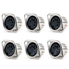 Venta 50 unids Din Jack para mujer Cable adaptador de conector 5 Pin Plug montaje en Panel soldadura alta calidad minijack del Cable