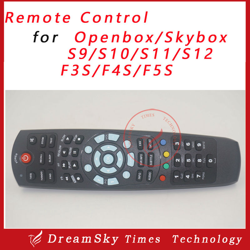 5pcs/lot Remote control for OPENBOX /S-BOX S9 S10 S11 S12 F3S F5S F4S HD PVR digital satellite receiver free shipping(China (Mainland))
