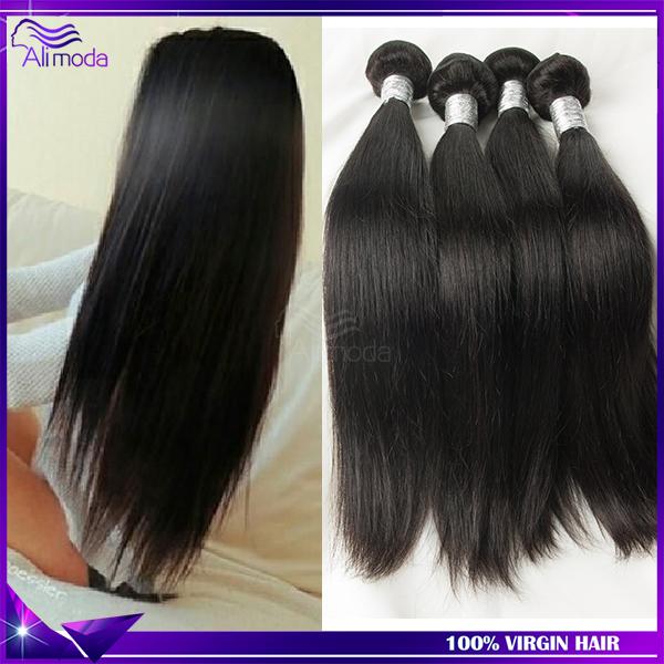 4 bundles 6A grade Malaysian Virgin Hair Straight Human Hair Weaves Rosa hair products malaysian straight hair Natural black(China (Mainland))