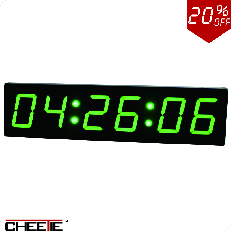 4 green led count down up interval timer stopwatch ir