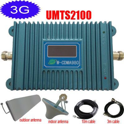 LCD Display 3G Signal Booster UMTS2100 Repeater HSPDA 3G Phone Signal Booster W-CDMA Amplifier GSM 2100 3G Repetidor(China (Mainland))
