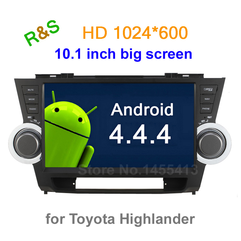big screen 10.1 inch Android 4.4 Car DVD Player GPS For Toyota Highlander 2011 2012 2013 2014 With BT Mirrorlink wifi 3G Radio(China (Mainland))