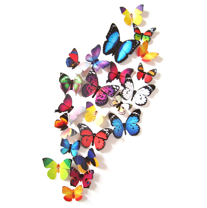 aliexpress com buy new arrival 24pcs 3d butterfly wall