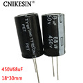 CNIKESIN 5pcs 450V68UF New Taiwan direct electrolytic capacitor 68UF 450V Size 18X30mm