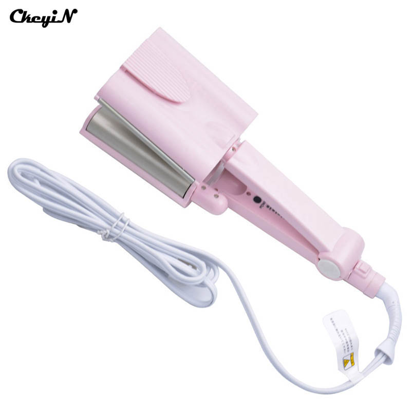 26MM Three Tube Egg Roll Electric Ceramic Hair Curler Wave Curl Machine Pink Color Styling Tools HS36-S4747(China (Mainland))