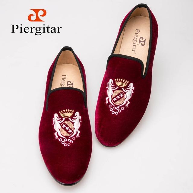 Модная вышивка бархат мужчины мужской обуви Большой размер мокасины свадебная и ну ...