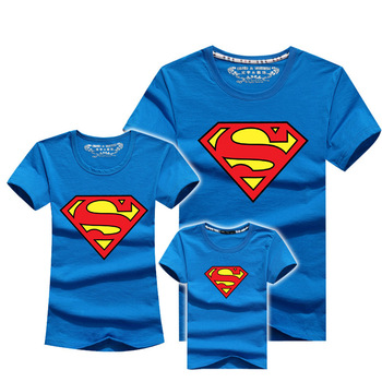 3 шт./компл. Kid одежда горячая распродажа майка супермен семья посмотрите дети мода девушки одежды следующая девушки семейный комплект мать сын 2015