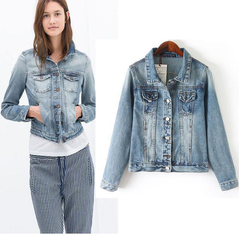 Light Wash Old Denim Jacket Jeans Short -in Vests