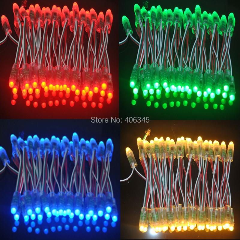 500PCS 12MM DC5V IP68 waterproof full color RGB WS2811 led pixel backlight channel letter addressable Christmas light led module(China (Mainland))