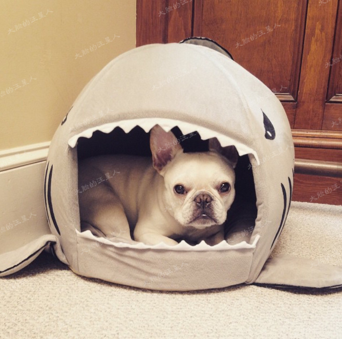 Shape of Shark Cat House Dog Beds/Mats Warm House Winter Pet Dog Round ...
