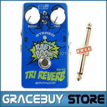 Baby Boom Effects Biyang RV-10 3 Mode Tri Reverb Reverb Stereo True Bypass Electric Guitar Pedal Musical Instrument(China (Mainland))