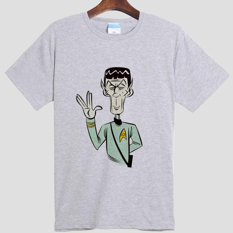 star trek spock Live Long and Prosper DIY men's short sleeve T-shirt cotton Round collar 007 film and television  HTB1f4ZsMpXXXXcHXpXXq6xXFXXXU