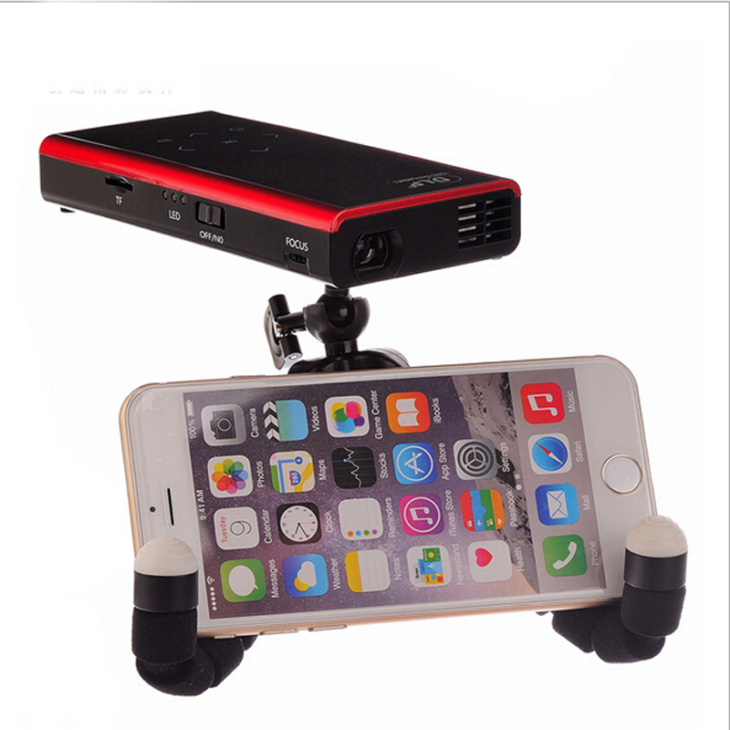 Original new mini edition holding mini portable projector for Mini portable pocket projector