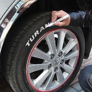 Metalloscopy pen tire tyre pen doodle pen paint pen auto supplies car decoration white