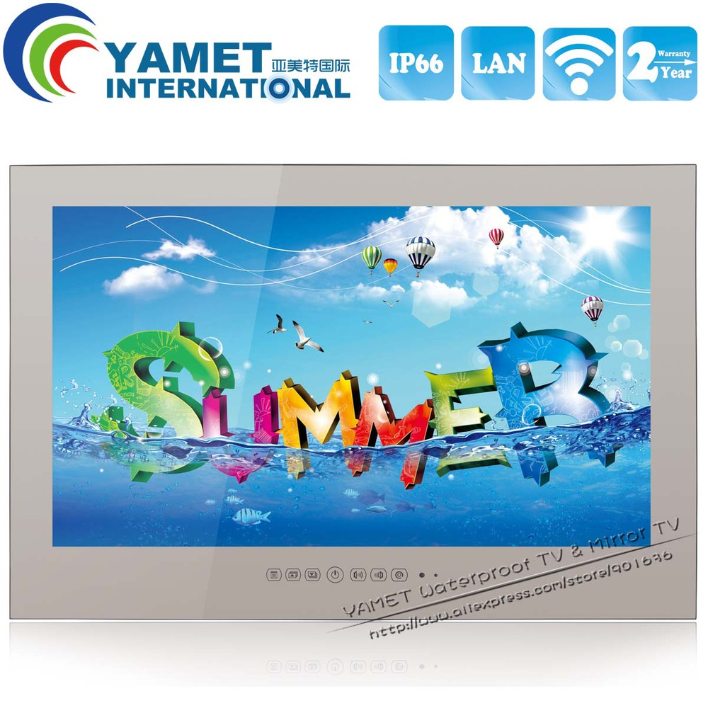 Brand New 27 inch Yamet IP66 Bathroom Smart TV Android Mirror Television WIFI Full-HD 1080P HDMI(China (Mainland))